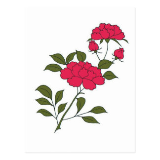 Japanese Roses Postcard