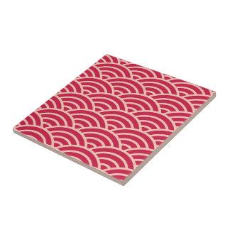 Japanese Sakura Fish Scale Pattern Tile