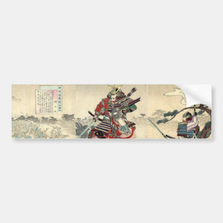 Japanese samurai fighting Scene Bumper Sticker