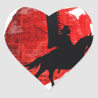 Japanese Samurai Heart Sticker