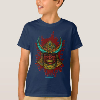 Japanese samurai helmet cool t-shirt design