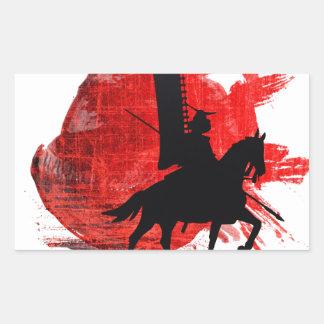 Japanese Samurai Rectangular Sticker