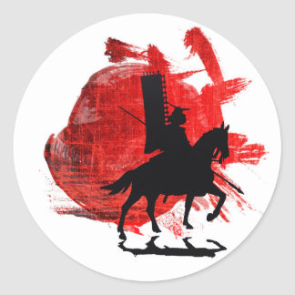 Japanese Samurai Round Sticker