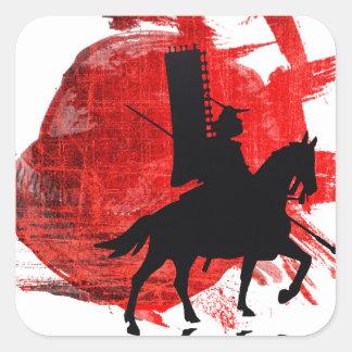 Japanese Samurai Square Sticker