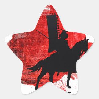 Japanese Samurai Star Sticker