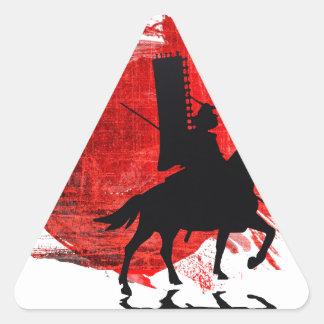 Japanese Samurai Triangle Sticker