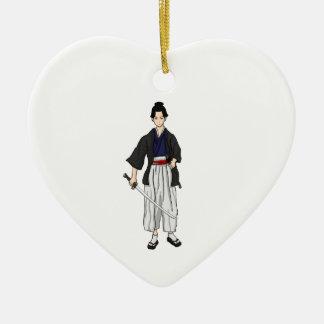 Japanese Samurai Warrior with Katana Sword Ornament