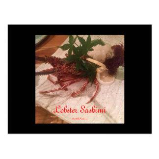 Japanese Sashimi Postcard
