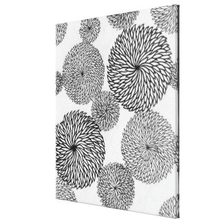 Japanese School's Chrysanthemums Canvas Print