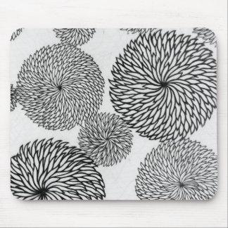 Japanese School's Chrysanthemums Mouse Mat