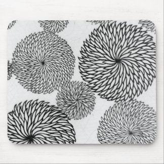 Japanese School's Chrysanthemums Mouse Pad