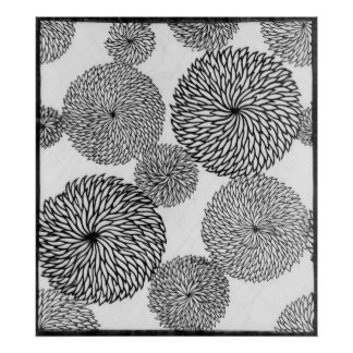 Japanese School's Chrysanthemums Poster