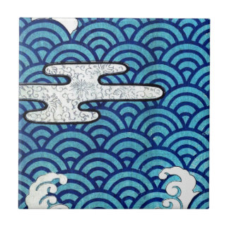 Japanese Sea and Clouds Tile
