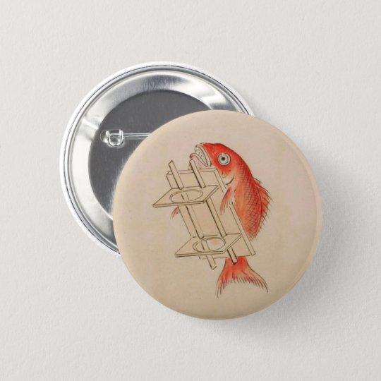 Japanese Sea Bream Yokai (Wedding Scroll) 6 Cm Round Badge