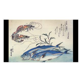 Japanese Sea Life Painting circa 1800 s Business Card Templates