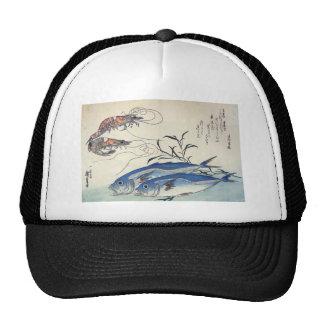 Japanese Sea Life Painting circa 1800's Trucker Hat