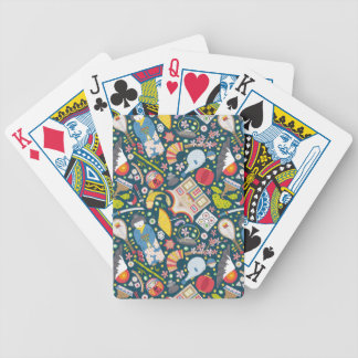 Japanese Seamless Pattern Bicycle Playing Cards