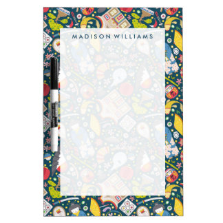 Japanese Seamless Pattern Dry Erase Board