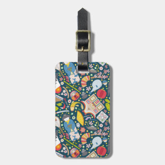 Japanese Seamless Pattern Luggage Tag