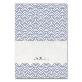 Japanese Seigaiha Foldable Place Card Setting Table Card