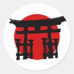 Japanese Shinto Shrine Classic Round Sticker