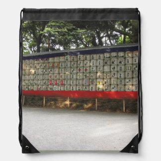Japanese Shrine Scene Bag Backpack