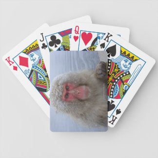 Japanese Snow Monkey in hotspring Bicycle Playing Cards