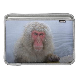 Japanese Snow Monkey in hotspring MacBook Air Sleeves