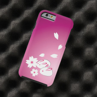 Japanese Snow Rabbits and Sakura Tough iPhone 6 Case