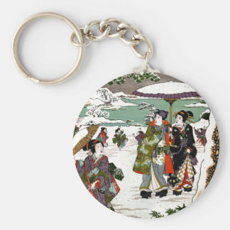 Japanese Snowscape Keychain