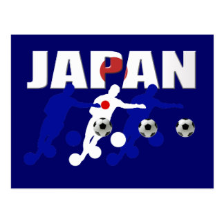 Japanese soccer players and soccer fans gifts postcard