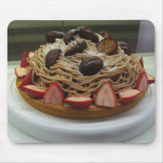 Japanese Spaghetti & Strawberry Cake Mouse Pads
