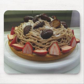 Japanese Spaghetti & Strawberry Cake Mouse Pad