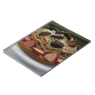 Japanese Spaghetti & Strawberry Cake Notebook