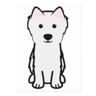Japanese Spitz Dog Cartoon Postcard