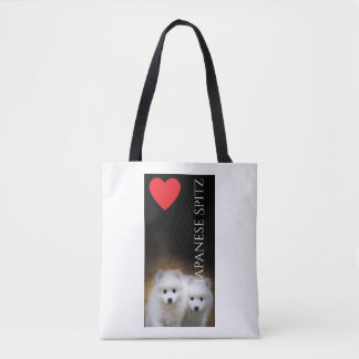 Japanese Spitz Puppies Tote Bag