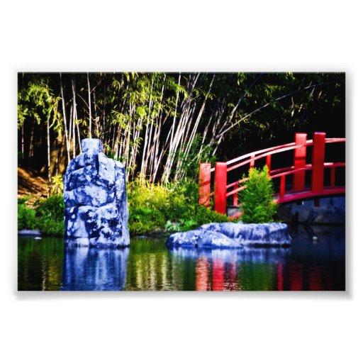Japanese Stone and Bridge Photo