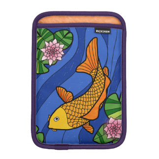 Japanese Style Koi In Water With Lillies iPad Mini Sleeve