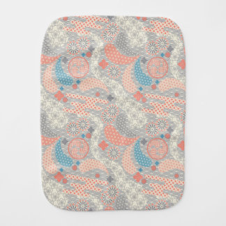 Japanese style pattern. Illustration. Burp Cloth