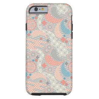 Japanese style pattern. Illustration. Tough iPhone 6 Case