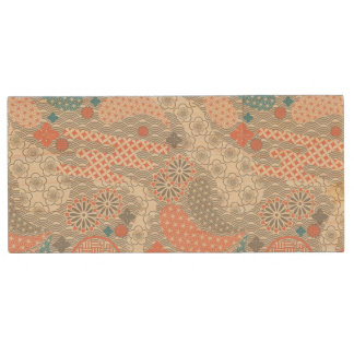 Japanese style pattern. Illustration. Wood USB Flash Drive