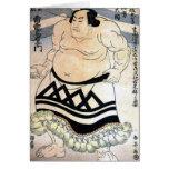 Japanese sumo-wrestler greeting cards