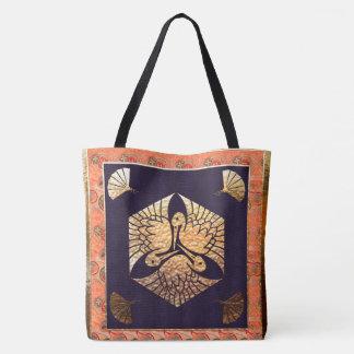 Japanese Swan Traditional Motif Tote Bag