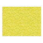 Japanese swirl pattern - mustard and light yellow postcard