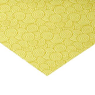 Japanese swirl pattern - mustard and light yellow tissue paper