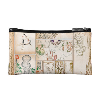 Japanese Tapestry Asian Collage tsuzure nishiki Cosmetic Bags