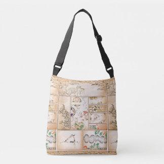 Japanese Tapestry Asian Collage tsuzure nishiki Crossbody Bag