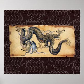 Japanese Tattoo Art Dragon - Print