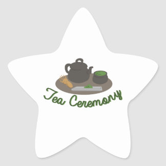 Japanese Tea Ceremony Tea Star Sticker