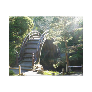 Japanese Tea Garden Bridge Stretched Canvas Print